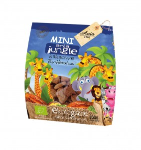 Herbatniki BIO MINI JUNGLE kakaowe 100g Ania