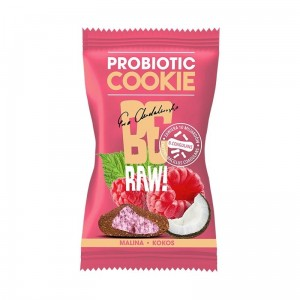 BeRaw Probiotic cookie MALINA KOKOS 20g Purella Superfoods