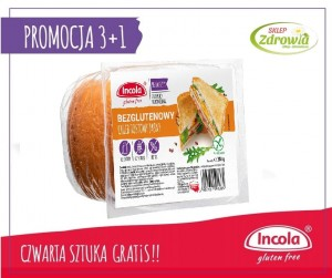 3+1 GRATIS Chleb TOSTOWY bezglutenowy  200G Incola