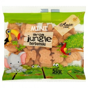 herbatniki MINI JUNGLE bez cukru 50G ANIA